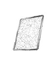 tablet low poly bw vector image vector image
