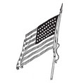 the united states national flag in 1912 vintage vector image vector image