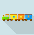 trendy toy train icon flat style vector image