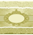 Vintage elegant card template copy space EPS 8 vector image vector image