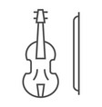 violin thin line icon musical and instrument vector image