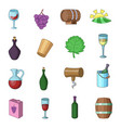 wine yard icons set cartoon style vector image vector image