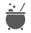 witch cauldron glyph icon magic and witchcraft vector image