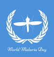 world malaria day background vector image