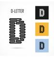 Creative D - letter icon abstract logo design vector image