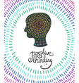 human head icon Creative concept Positive thinking vector image
