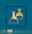 flask bulb medicine or chemistry vector image