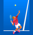a male tennis player serve vector image