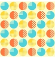 Abstract seamless pattern with geometrical objects vector image vector image