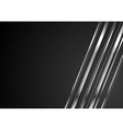 Abstract tech brilliant metallic stripes on black vector image vector image