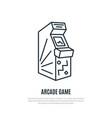 arcade game line icon arcade machine symbol vector image