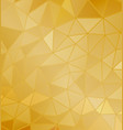 background golden geometric shapes vector image