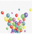 balloons group isolated graphic design vector image