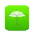 beach umbrella icon digital green vector image