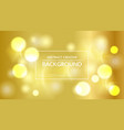 bokeh bright background with message box vector image