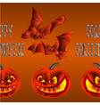 border seamless background happy halloween vector image vector image