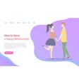 build happy relationships dating teenagers vector image vector image