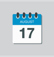 calendar icon day 17 august date days year