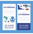 city aquarium exhibition banner templates set vector image vector image