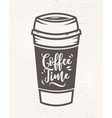 coffee time poster with cool design vector image vector image