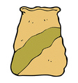 comic cartoon sack of potatoes vector image vector image