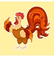 Cute cartoon rooster Rooster vector image