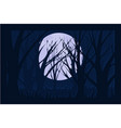 dark background at night with branches and moon vector image vector image