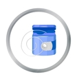Dental floss icon in cartoon style isolated on vector image