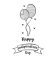 design independence day hand draw vector image vector image