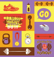 dumbbell fitness gym weight equipment dumb-bells vector image vector image