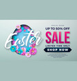 easter sale with spring flower and vector image vector image