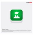 education user icon green web button vector image