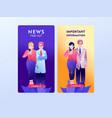 epidemiologist online mobile app template vector image