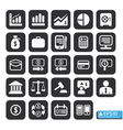 Finance and business icon set in black color vector image