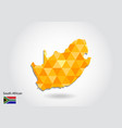 geometric polygonal style map of south african vector image vector image