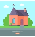 Happy House Concept vector image vector image