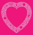 hearts doodle vector image vector image
