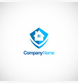 home protec business logo vector image vector image