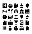 Hotel and Restaurant Icons 1 vector image vector image
