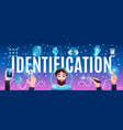 identification technologies header vector image vector image
