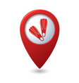 Map pointer with flippers icon vector image