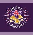 merry christmas inscription written with elegant vector image