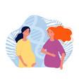 motherhood pregnant girls joyful future parents vector image