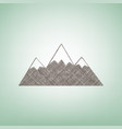 mountain sign brown flax vector image vector image