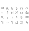 Music black icons set vector image vector image