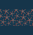 pattern wallpaper with ocean sea marine star fish vector image vector image