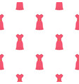 pink dress pattern seamless vector image vector image