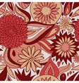 red floral pattern vector image vector image