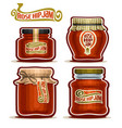 rose hip jam in jars vector image vector image