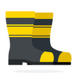 rubber boots for firefighters flat isolated vector image